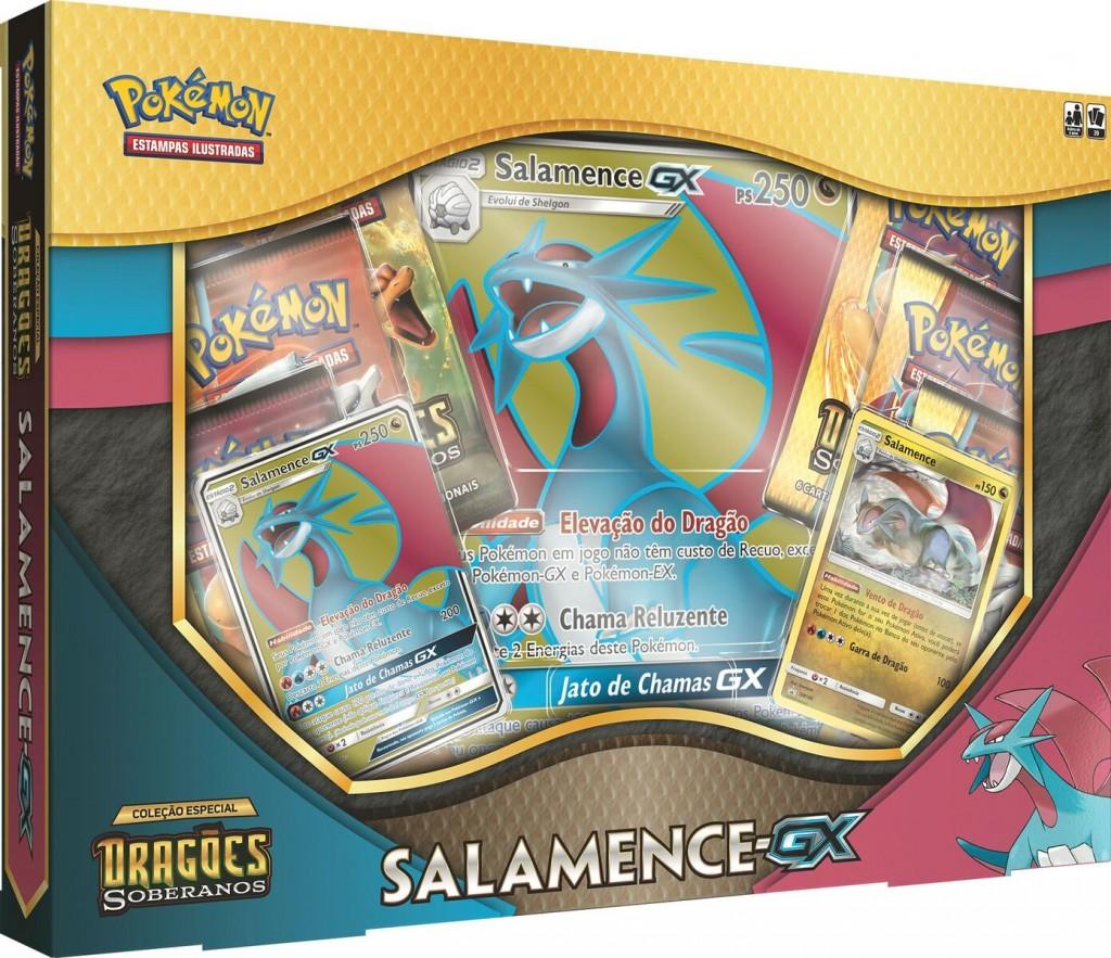 e25ef4236 Pokémon Box Kyurem Branco-GX e Box Salamence-GX | Sulnaipes
